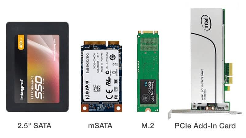 Разновидности твердотельных накопителей для компьютера и ноутбука