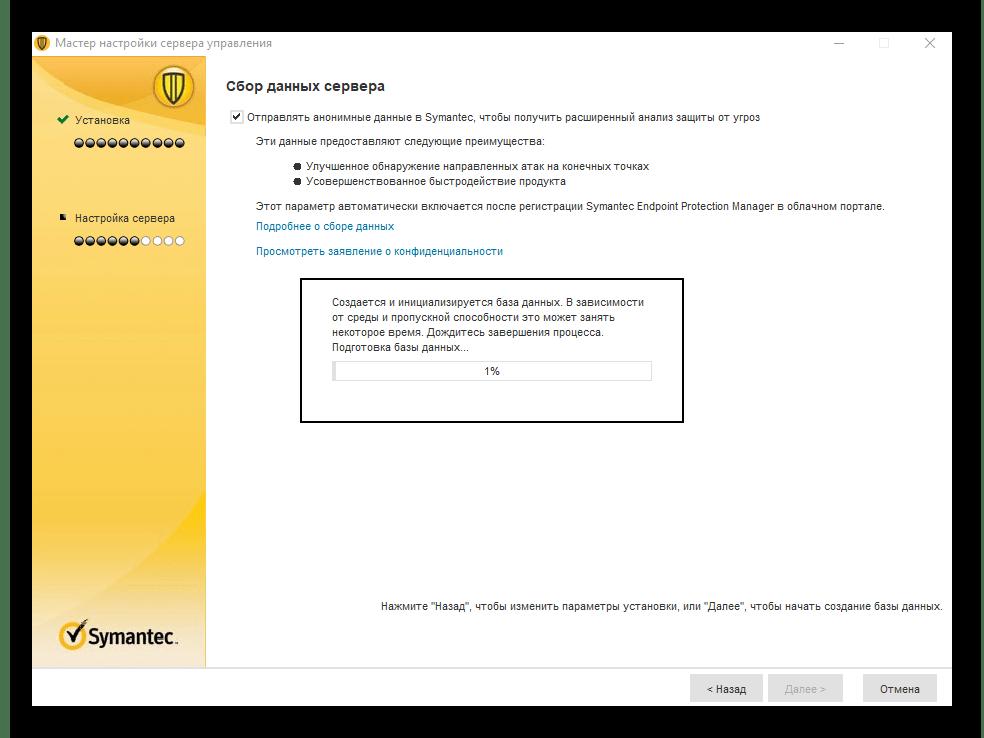Сбор данных сервера в базу антивирусом Symantec Endpoint Protection