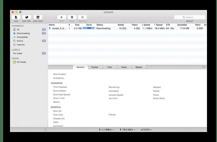 Скачать µTorrent - торрент клиент для macOS