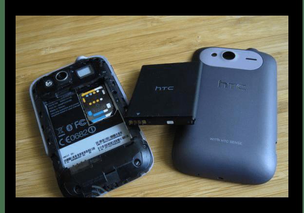 Замена аккумулятора на Android устройстве HTC