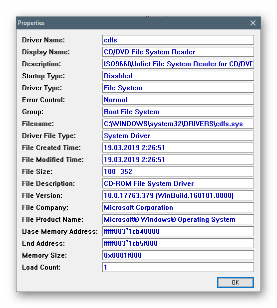 Компактный просмотр дополнительной информации о драйверах в программе InstalledDriversList