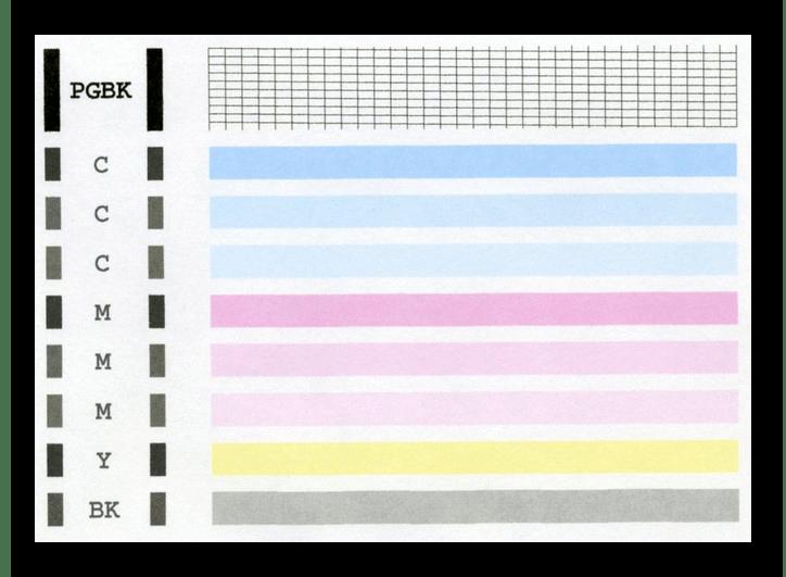 Листок с изображениями для тестовой печати при проверке качества принтера