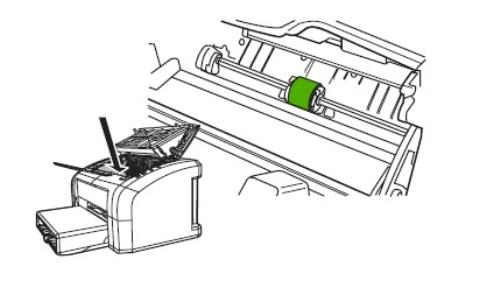 Обнаружение ролика захвата внутри принтера Canon при его разборке