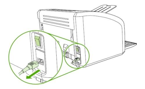 Отсоединение кабеля питания для уверенностью  разборки принтера Canon
