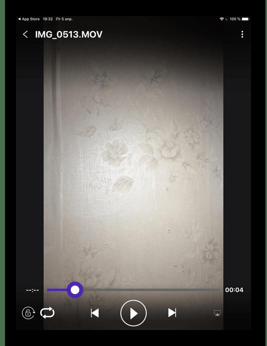 Проигрыватель стороннего приложения на iPad для просмотра видео в разных форматах