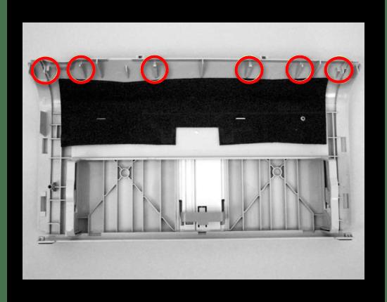 Рассостояние  креплений передней панели принтера Canon