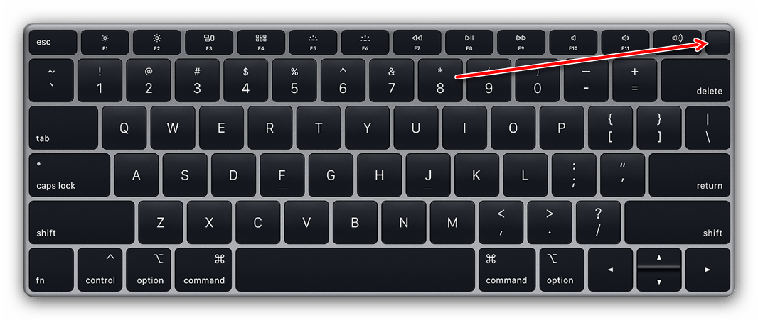 Сенсор TouchID для перезагрузки MacBook Air, выпущенного после 2016 года