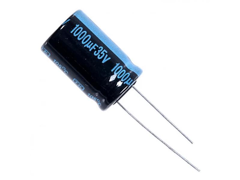 Внешний вид электрического конденсатора для материнской платы компьютера