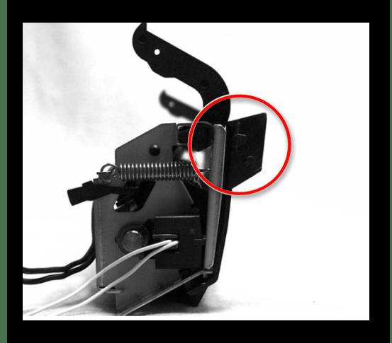 Язычок узла термозакрепления на принтере Canon