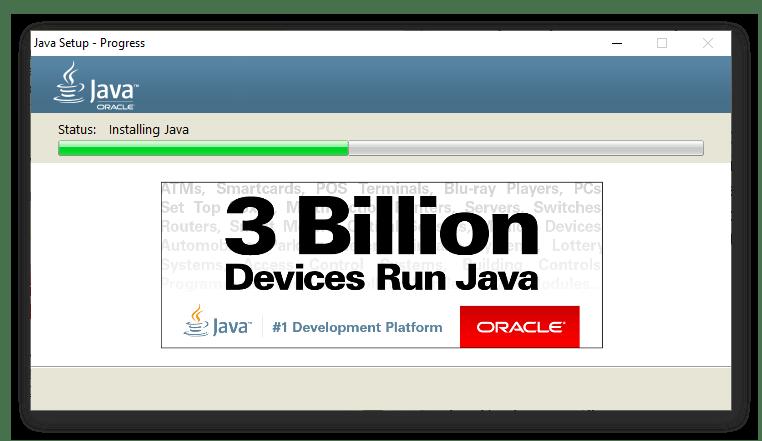 Ход установки Java для поиска драйвера для видеокарты NVIDIA GeForce 610 в Internet Explorer