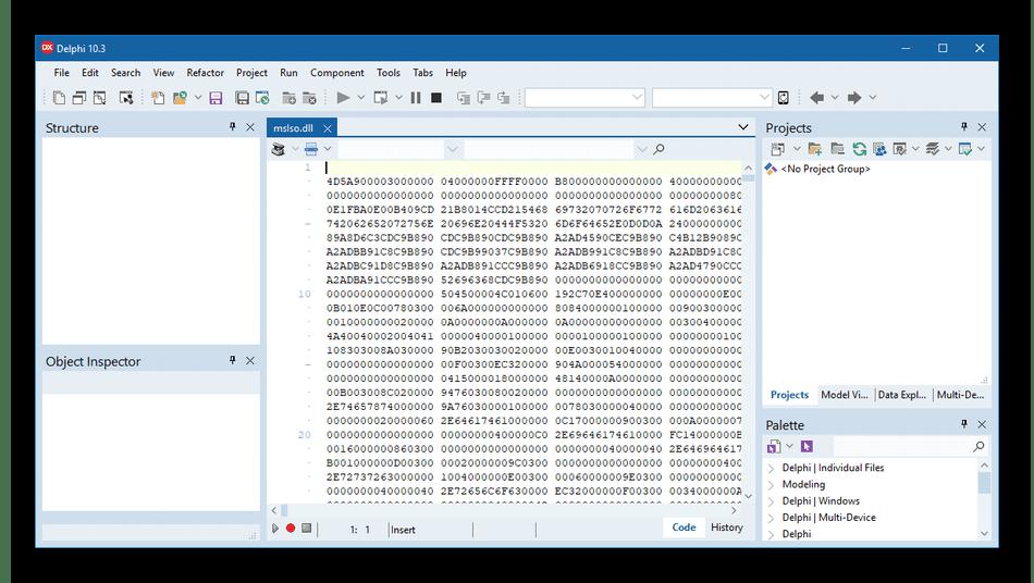 Отображение файла в бинарном виде в программе Embarcadero RAD Studio