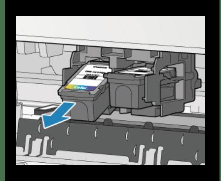 Снятие картриджа с разъема на струйном принтере фирмы  HP