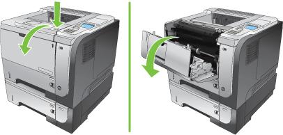 Снятие верхней крышки со струйного принтера фирмы  HP
