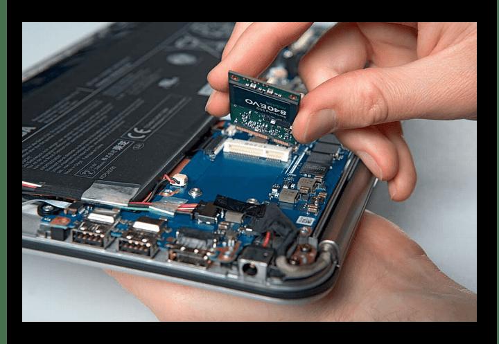 Установка SSD формата M2 в ноутбук