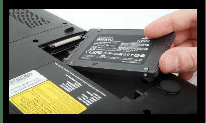 Установка SSD формата SATA в ноутбук