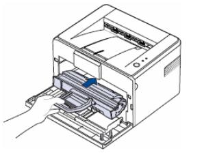 Установка нового лазерного картриджа для принтера Canon