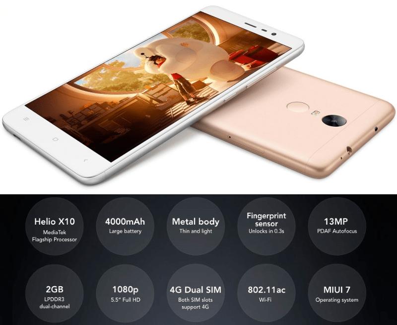 Xiaomi Redmi Note 3 HENNESSY На базе процессора Mediatek Helio X10