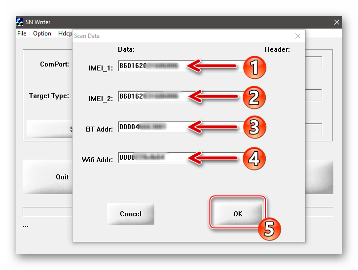 Xiaomi Redmi Note 3 MTK SN Writer внесение идентификаторов IMEI, MAC-адресов Bluetooth, Wi-Fi