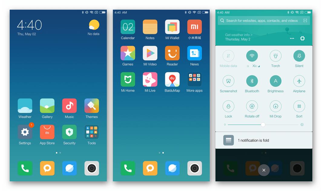 Xiaomi Redmi Note 3 MTK официальная девелоперская сборка MIUI после прошивки через Флештул