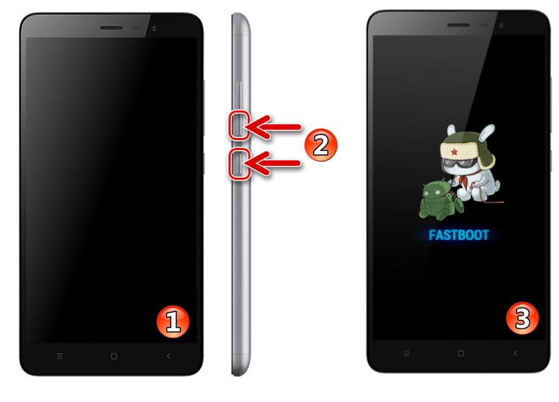 Xiaomi Redmi Note 3 МТК переключение смартфона в режим FASTBOOT