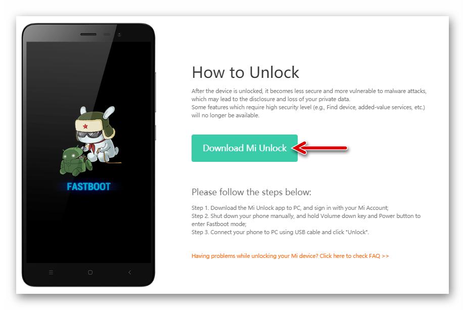 Xiaomi Redmi Note 3 MTK разблокировка загрузчика смартфона с помощью Mi Unlock