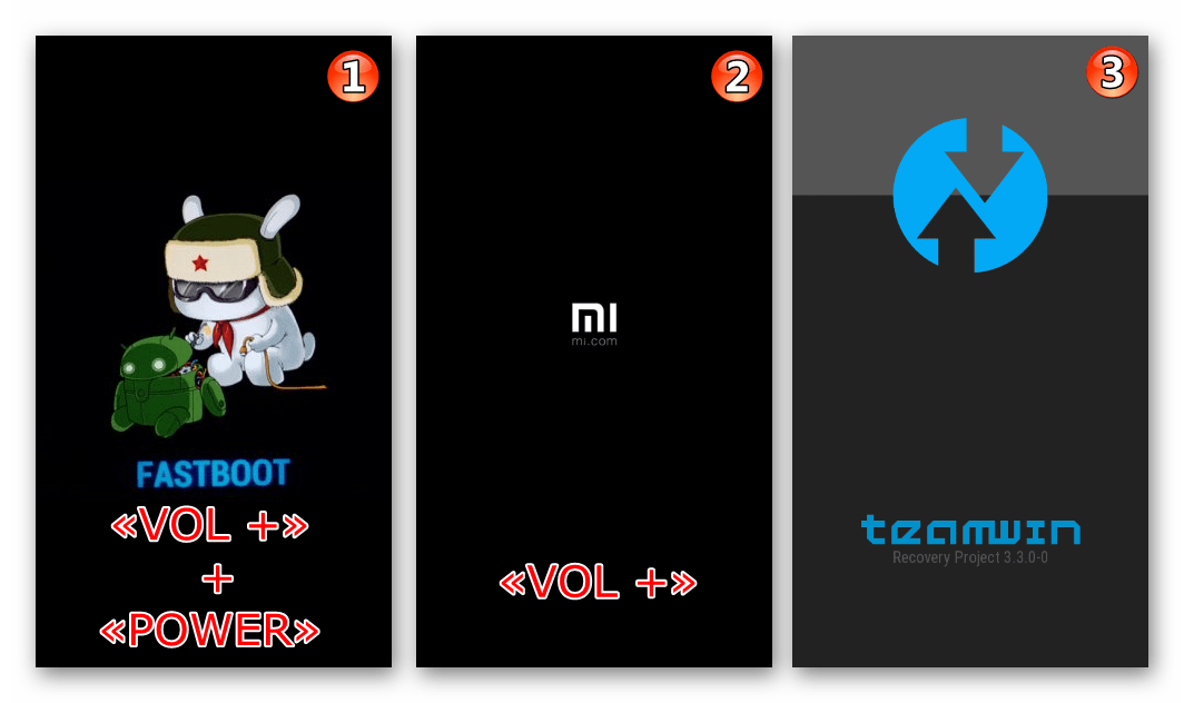 Xiaomi Redmi Note 3 MTK запуск кастомного рекавери TWRP сразу после установки через Fastboot