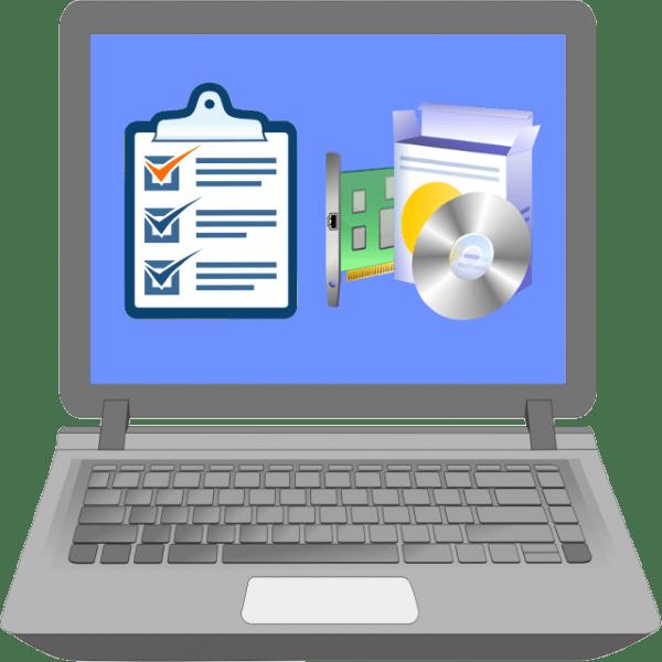 какой порядок установки драйверов на ноутбук