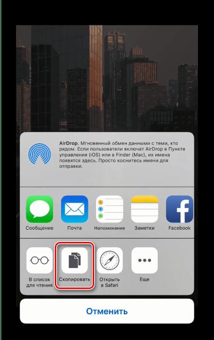 Скопировать ссылку для сохранения гифки с Вк на айфон