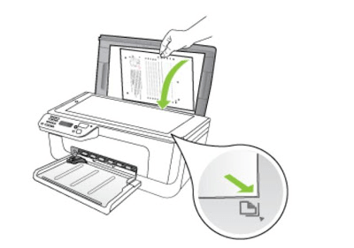Установка документа в принтер для начала сканирования