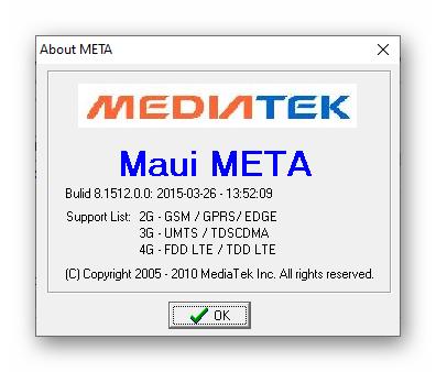 ZTE Blade X3 программа Maui Meta для восстановления IMEI на устройстве