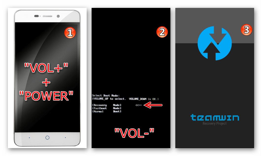 ZTE Blade X3 запуск кастомного рекавери TWRP сразу после прошивки через Flash Tool