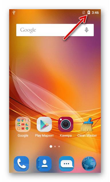 ZTE Blade X3 - зарядка батареи смартфона перед прошивкой